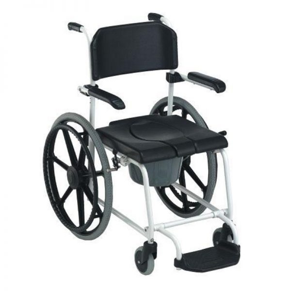 silla de ducha inodoro cascade de invacare con ruedas autopropulsables y frenos