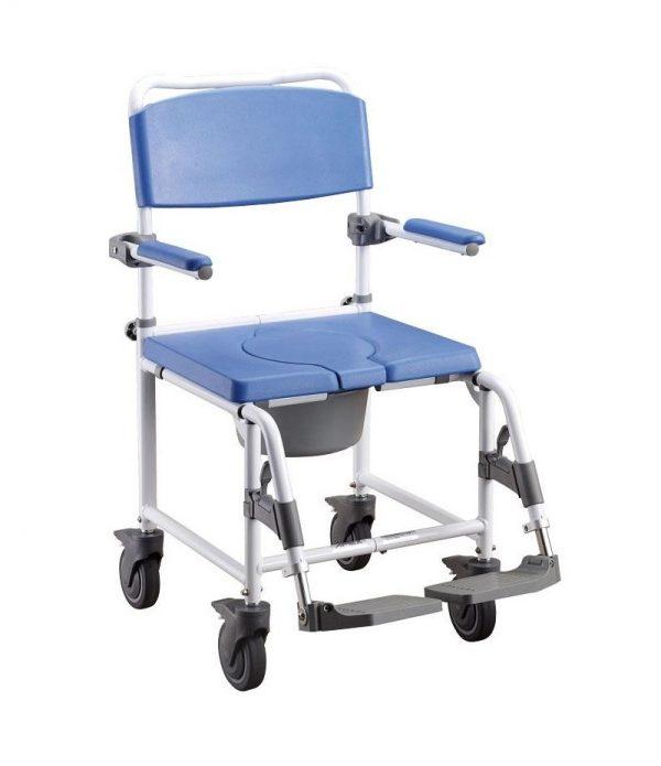 silla de ducha y wc con ruedas enea apex medical