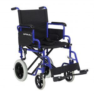 silla de ruedas plegable de acero apolo 3 03