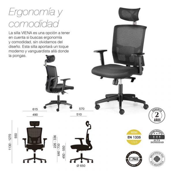 silla ergonomica viena 2